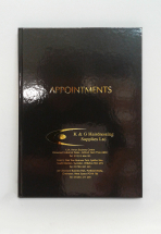 APPOINTMENT BOOK 6 COL BLACK