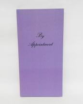 APPOINTMENT BOOK 3 COL LILAC
