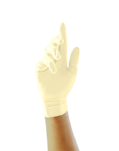 LATEX GLOVES 100 POWDERED MEDIUM