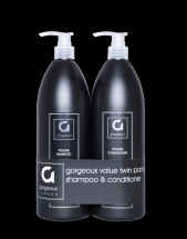 GORGEOUS VOLUME SHAMPOO & CONDITIONER TWIN PACK 1000ML