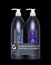 GORGEOUS ULTRA SILVER SHAMPOO & CONDITIONER TWIN PACK 1000ML
